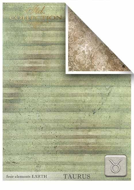 Papeles para scrapbooking en sets - cuatro elementos - Tierra*Бумаги для скрапбукинга в наборах - четыре элемента - Земля