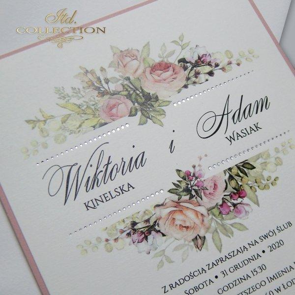 Invitaciones de boda, invitaciones con flores*Hochzeitseinladungen, Einladungen mit Blumen*свадебные приглашения, приглашения с цветами