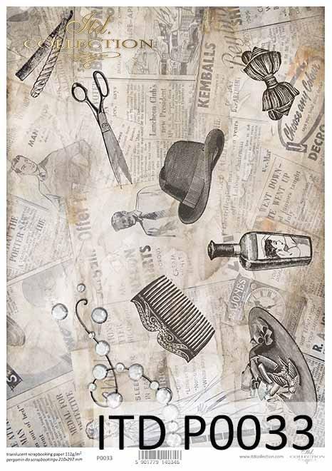 Papiery do scrapbookingu, papier specjalny, półprzezroczysty*Paper for scrapbooking, special paper, Translucent