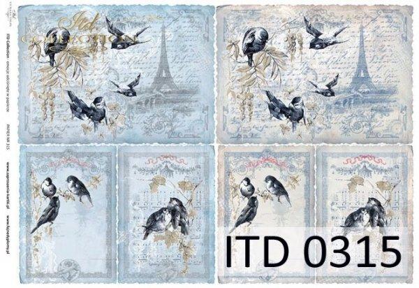 Papier decoupage ITD D0315M