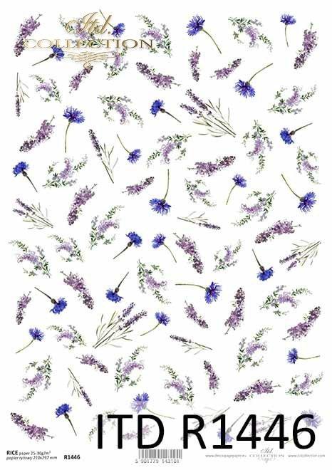 kwiaty, chabry, lawenda, perovskia, drobne elementy*flowers, cornflowers, lavender, perovskia, small elements