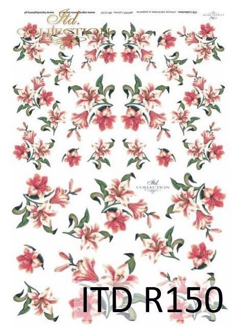 papier-ryżowy-decoupage-kwiaty-lilia-lilie-lilii-ogród-R150