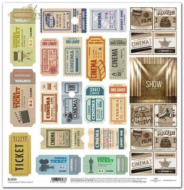 retro bilety do kina, scena, znaczki*retro cinema tickets, scene, stamps*Retro-Kinokarten, Szene, Briefmarken*entradas de cine retro, escena, sellos