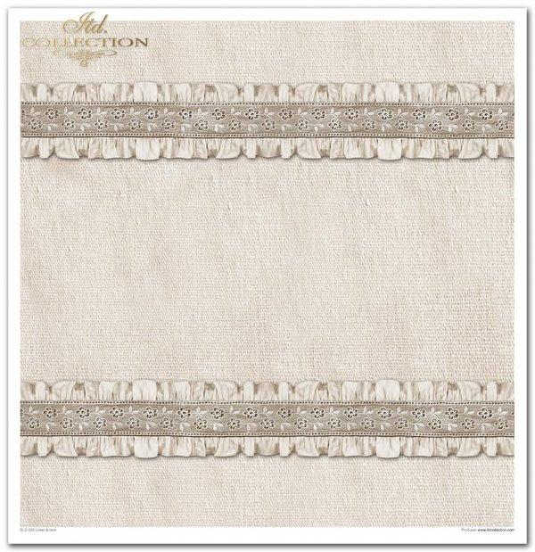 Seria linen & lace: len, koronki, tkaniny, tasiemki koronkowe, robione na drutach, warkocze, materiały, tła, tapety*Series - linen & lace: linen, lace, fabrics, lace ribbons, knitting, braids, materials, backgrounds, wallpaper