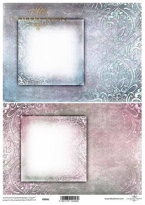 Papier Decoupage Ornamente, Zierrahmen*adornos de papel decoupage, marco decorativo*украшения для декупажа бумаги, декоративная рамка