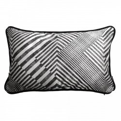 Czarna poduszka dekoracyjna Glow 50x30