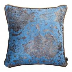 Błękitno-beżowa poduszka dekoracyjna Gold 40x40