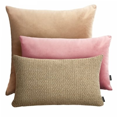Beżowy zestaw poduszek Velvet + Ori