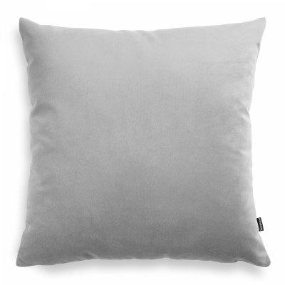 Pram jasno szara welurowa poduszka dekoracyjna 45x45 cm
