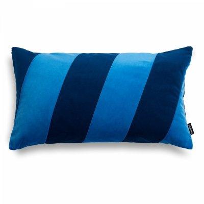Stripes niebiesko granatowa poduszka dekoracyjna 50x30