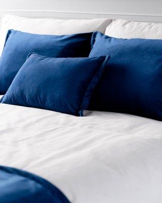Granatowy 4 elementowy komplet sypialniany