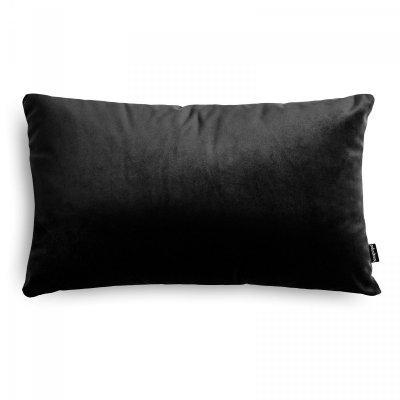 Velvet czarna poduszka dekoracyjna 50x30
