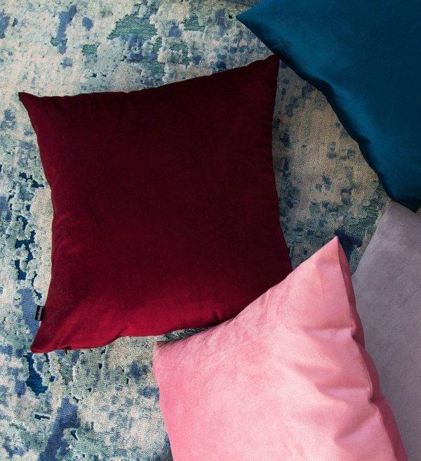 Velvet czerwona poduszka dekoracyjna 50x30