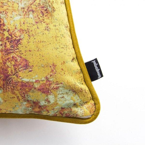 Złoto-bordowa poduszka dekoracyjna Gold 40x40