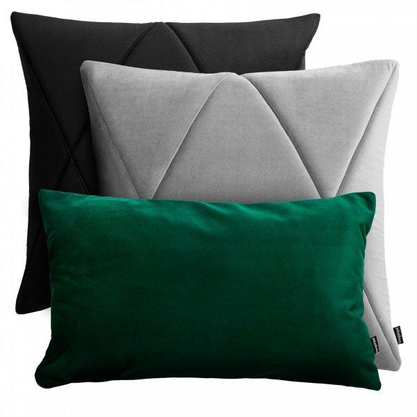 Czarno-szaro-zielony zestaw poduszek dekoracyjnych Touch