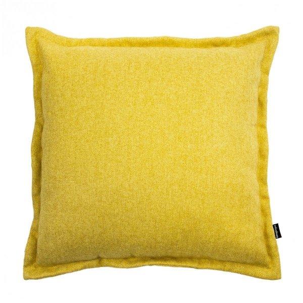 Tweed żółta poduszka dekoracyjna 45x45