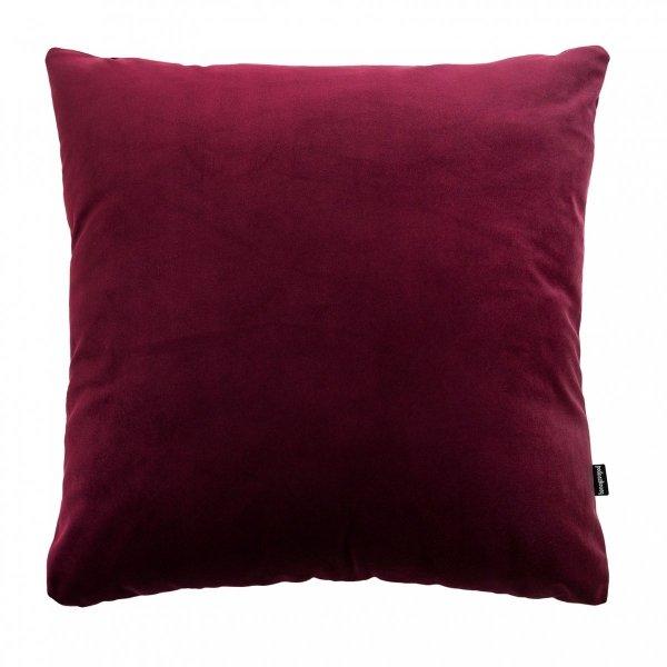 Velvet czerwona poduszka dekoracyjna 45x45