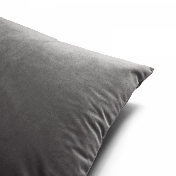 Velvet grafitowa poduszka dekoracyjna 50x30