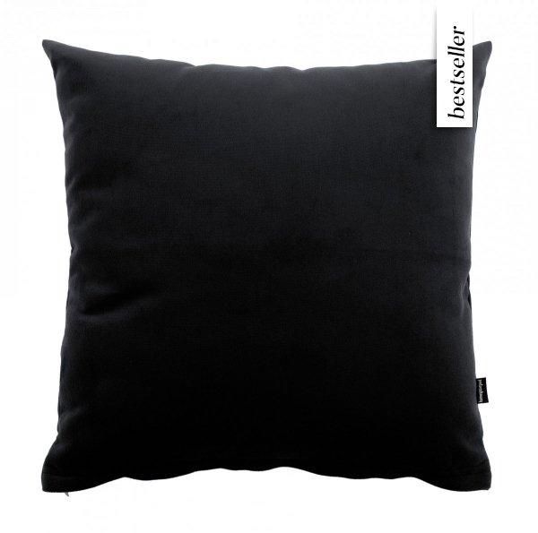 Pram czarna welurowa poduszka 45x45