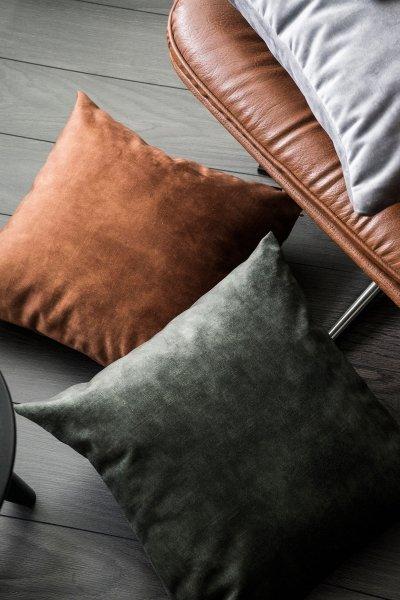Glossy zielona poduszka dekoracyjna 45x45