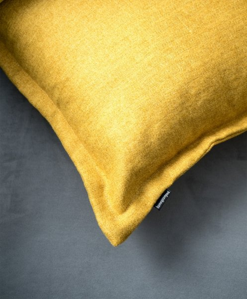 Tweed poduszka dekoracyjna Żółta 45x45