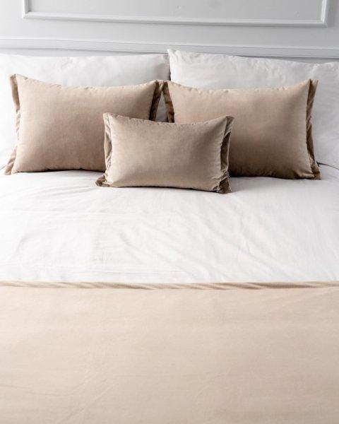 Beżowy 4 elementowy komplet sypialniany