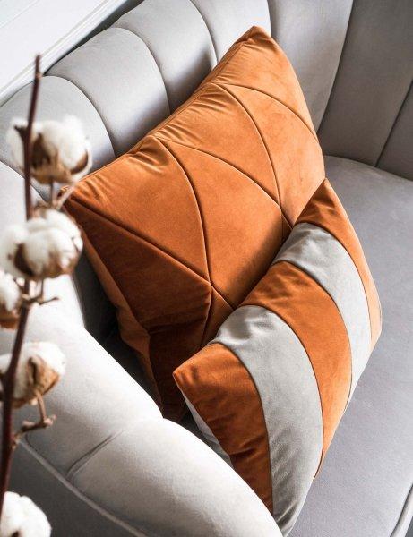 Stripes rudo szara poduszka dekoracyjna 50x30