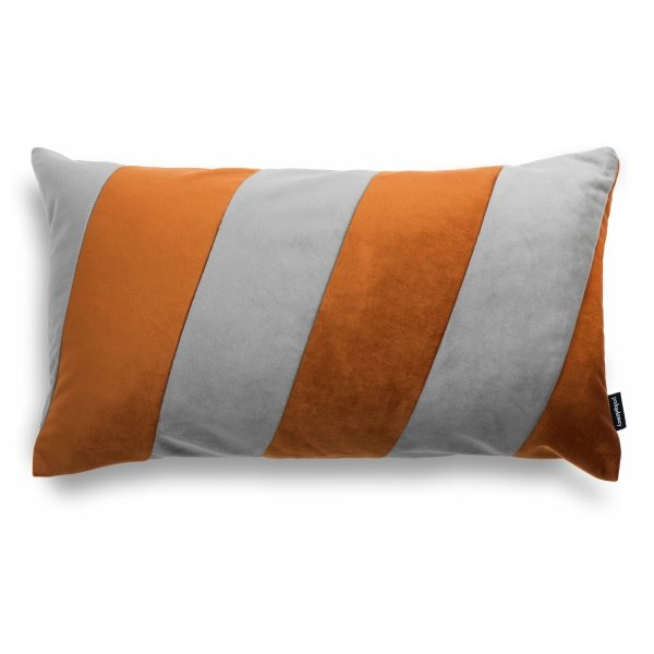Stripes rudo-szara poduszka dekoracyjna 50x30