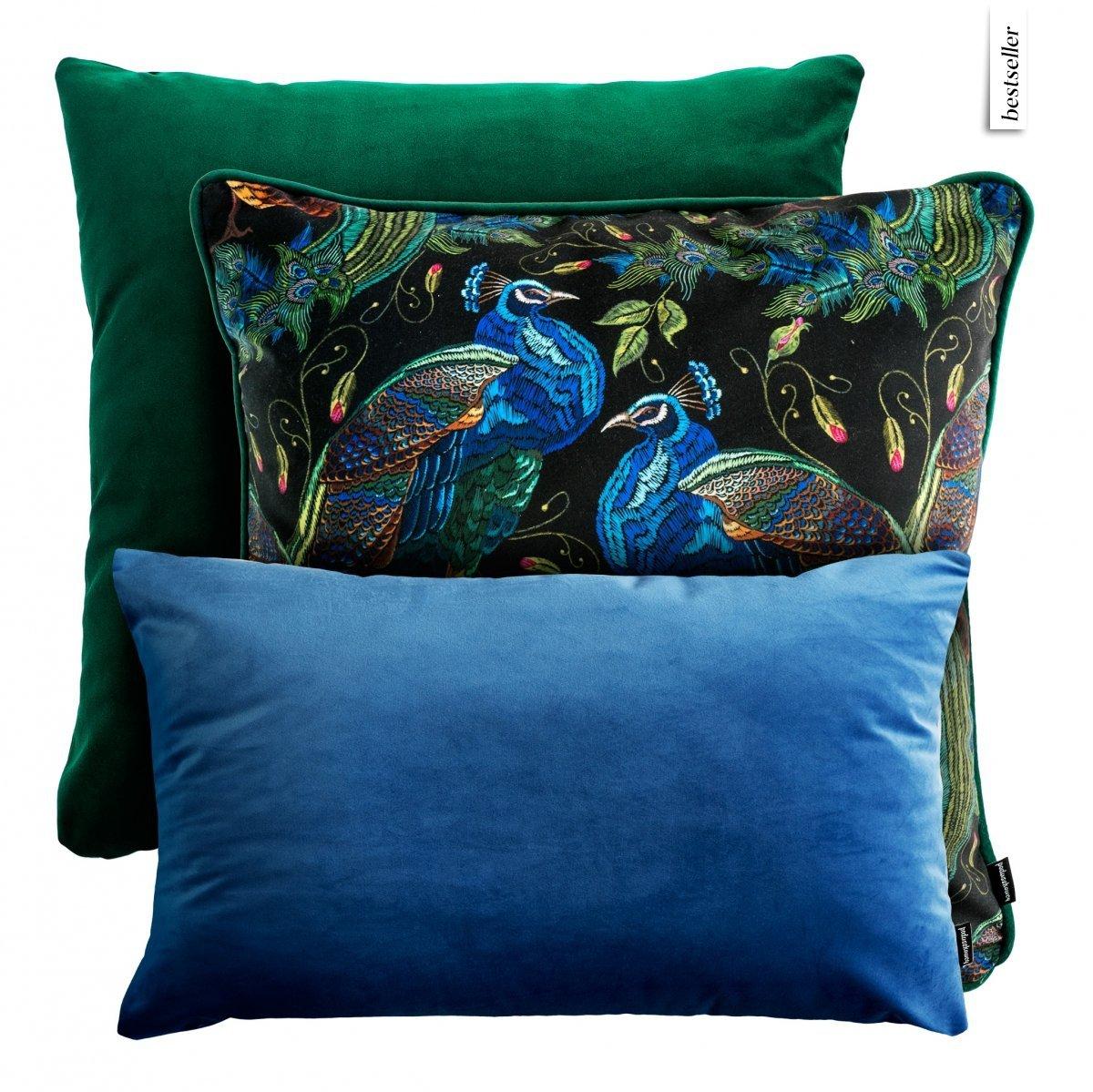 Zielono-niebieski zestaw poduszek dekoracyjnych Peacock