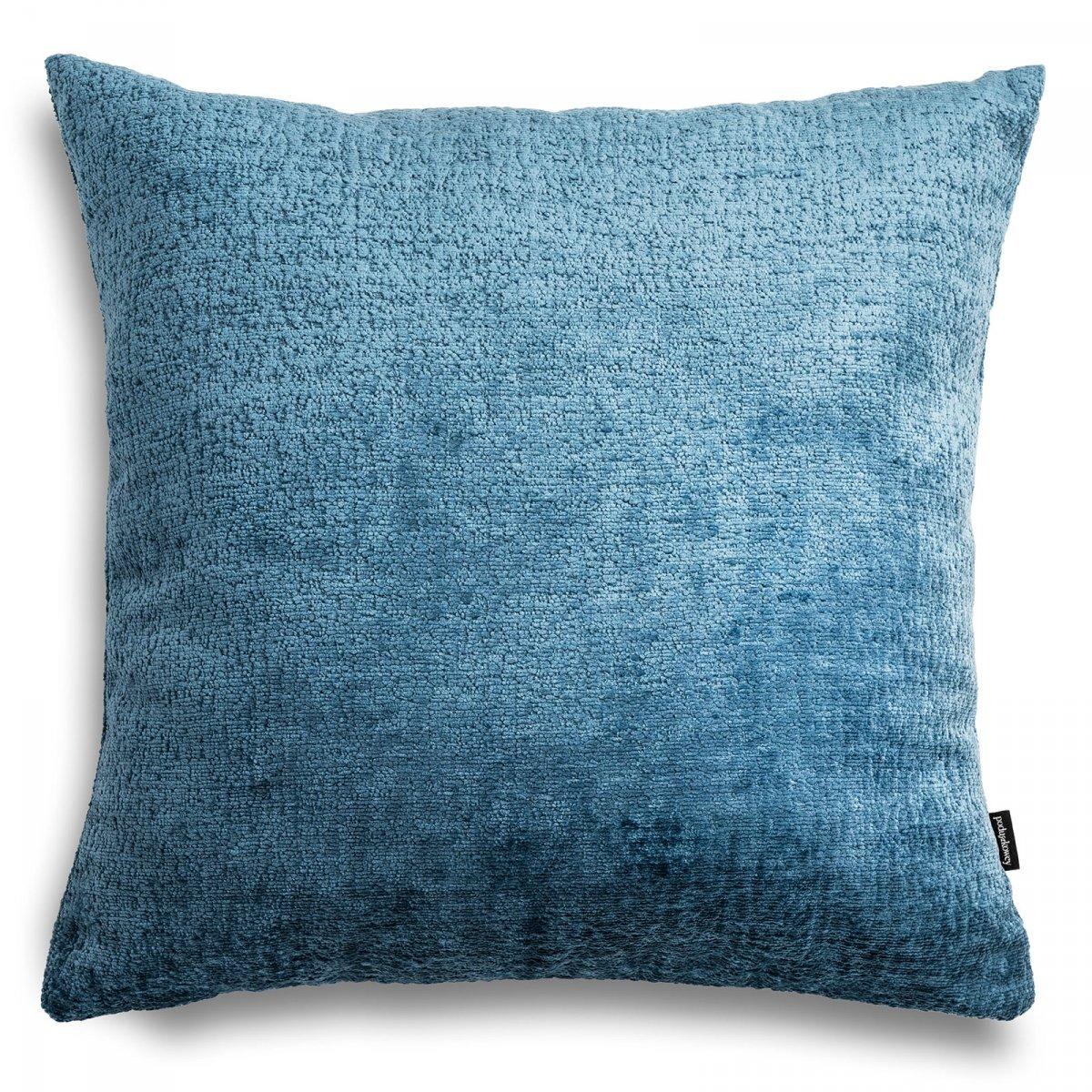 Bergen duża błękitna poduszka dekoracyjna 50x50