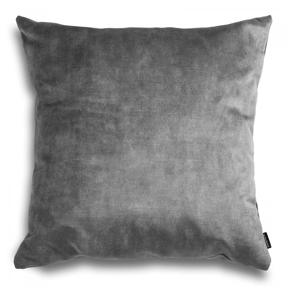 Glossy szara poduszka dekoracyjna 45x45