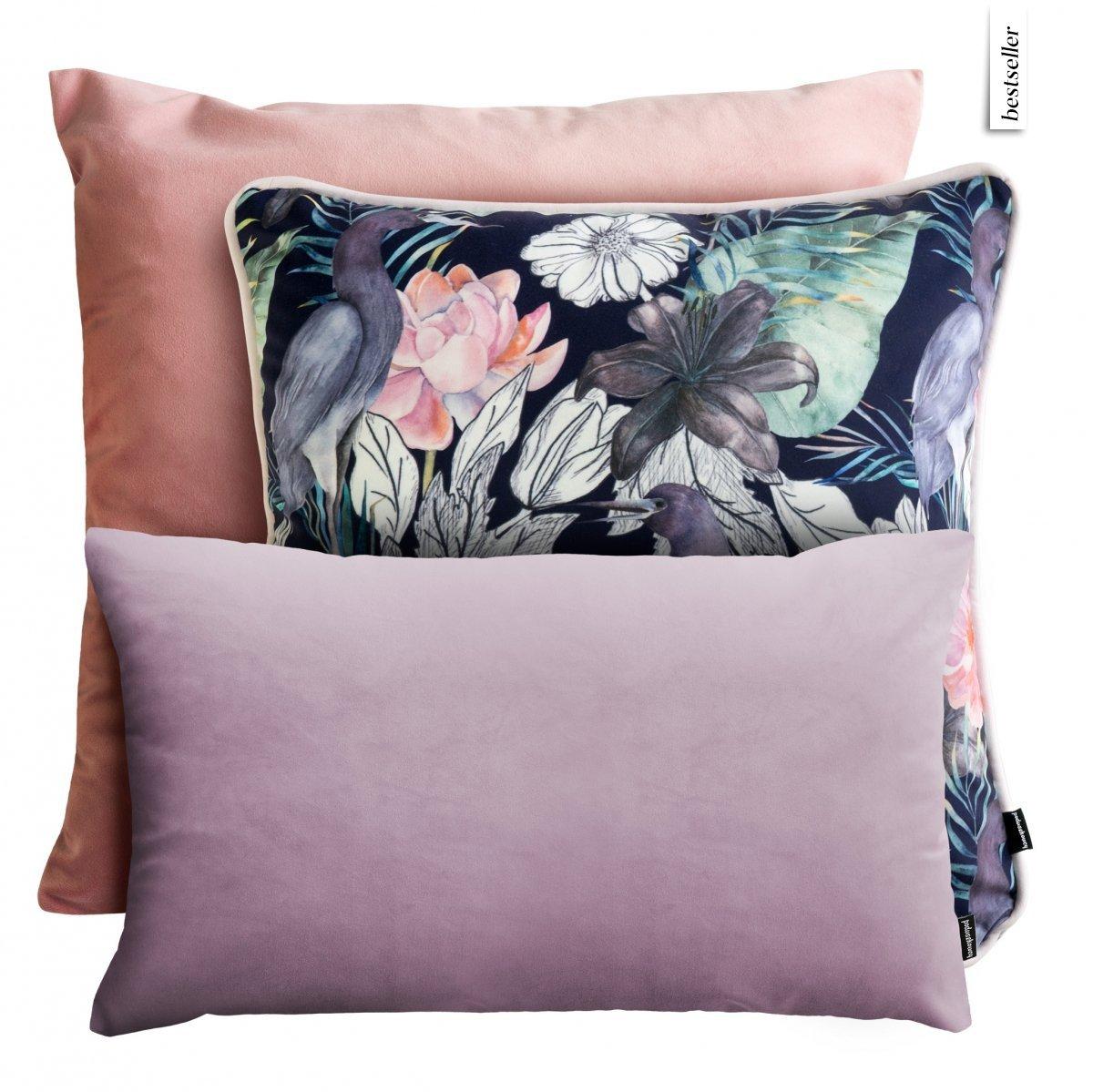 Pastelowy zestaw poduszek dekoracyjnych Japoński Ogród
