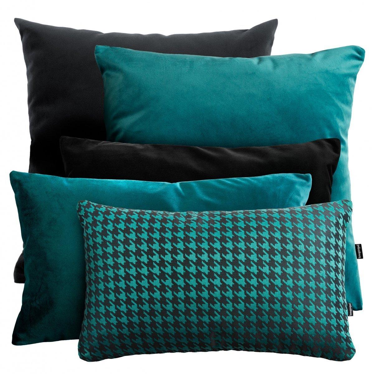 Duży zestaw poduszek dekoracyjnych Velvet + Pepitka