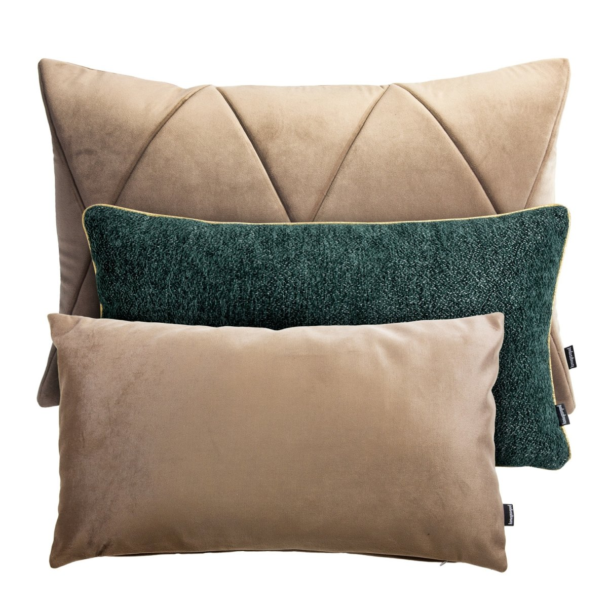 Beżowo - zielony zestaw poduszek dekoracyjnych Alaska
