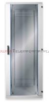 BKT Szafa ramowa stojąca, 22U, 600/600/1095, szer./gł./wys.  mm. drzwi blacha/szkło, RAL 7035 ( konstrukcja spawana - nośność 600 kg )