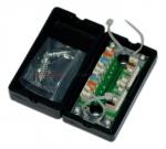 Łącznik kabla kat. 5e, LSA, UTP obudowa plastikowa, czarna