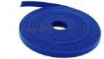 Opaska kablowa rzepowa 5m, 9mm, niebieska