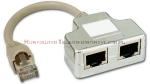Rozdzielacz portu RJ45 ekranowany 10/100 BaseT + ISDN