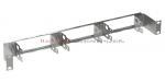 ZPAS Panel gniezdnik 19 1U na 6 łączówek LSA (60 par)