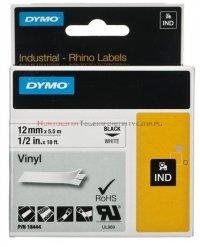DYMO Rhino Taśma winylowa 12mm/5,5m Czarno/Biała