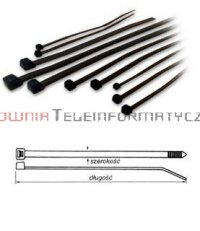 Opaska kablowa czarna UV 3,6x300 (100szt.)