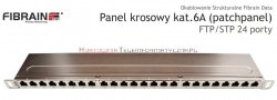 FIBRAIN DATA Rapid FTP Patch Panel 0,5U 24 ports RJ45 Kat.6A z półką