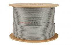 SOLARIX kabel U/FTP, drut, LSOH Dca, szary, kat.6A - 500m