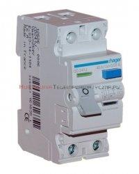 HAGER Wyłącznik/bezpiecznik różnicowoproądowy 63A, 30mA, typ AC, 6kA 2-bieg.