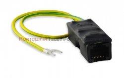 ATTE Moduł zabezpieczający sieć Ethernet Gigabit oraz tor zasilania PoE przed przepięciami (złącze ekranowane)
