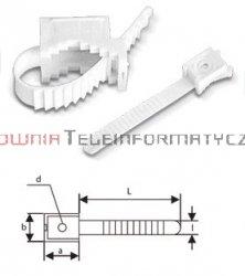 Uchwyt paskowy mocowany do ściany fi 22mm  (100szt.)