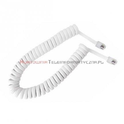 Kabel telefoniczny skrętny 4 m biały