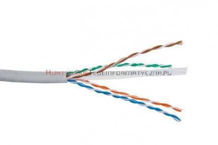 SecurityNET kabel U/UTP kat. 6, drut, PVC szary