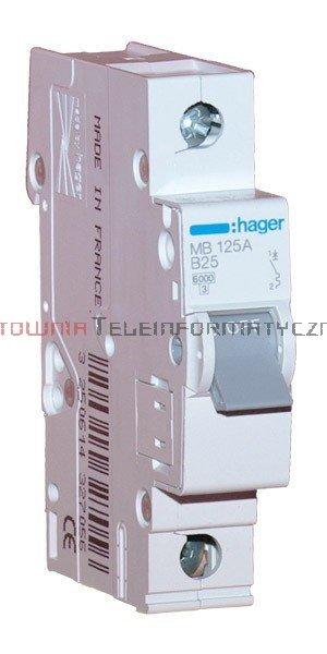 HAGER Wyłącznik/bezpiecznik nadprądowy 10A char.B 6kA 1-bieg.