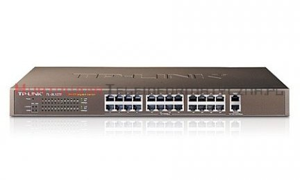 TP-LINK SL1226 Switch 24-port Fast Ethernet, 2-port Gigabit Ethernet, RACK 19